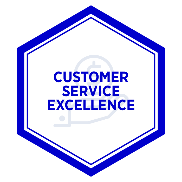 AIM Customer Service Excellence Badge