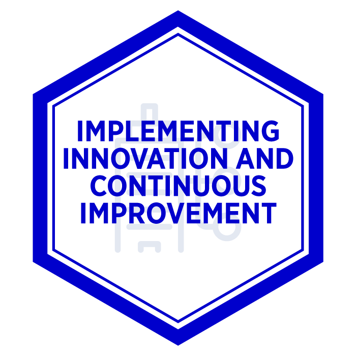 AIM Implement Innovation and Continuous Improvement Badge