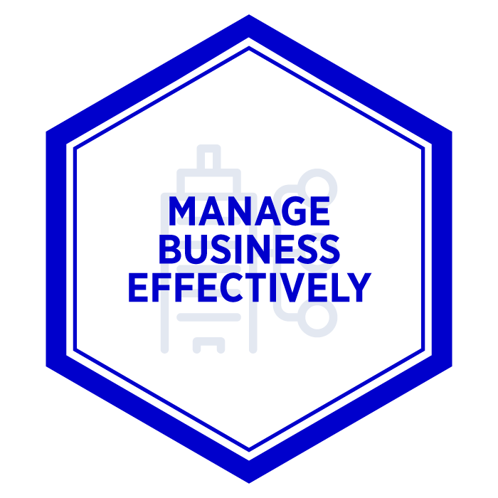 AIM Manage Business Effectively Badge