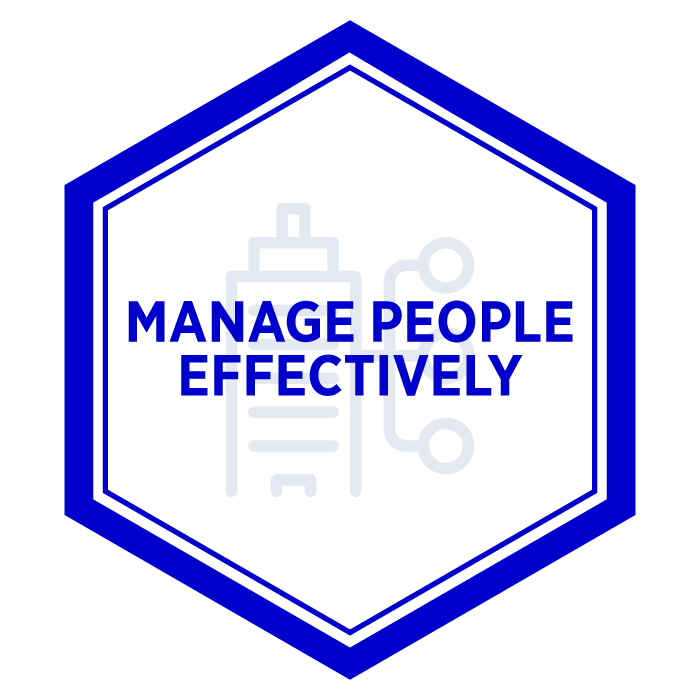 AIM Manage People Effectively Badge