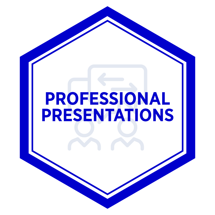 AIM Professional Presentations Badge