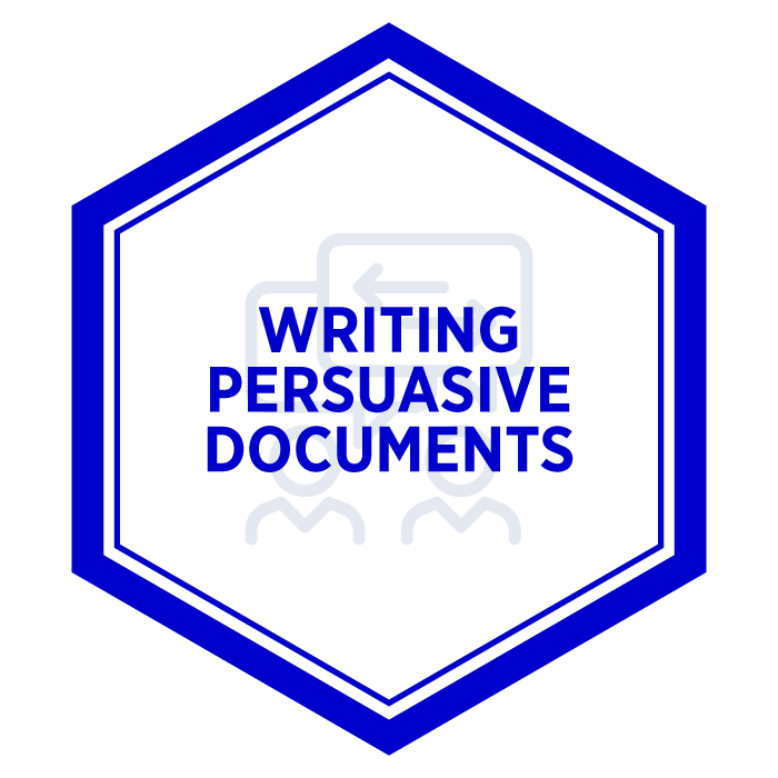 AIM Writing Persuasive Documents Badge